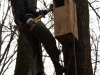 Placing nest boxes in Kharkiv woodland park. November 2010.