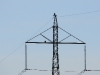 A pair of the Imperial Eagle on a power line pylon