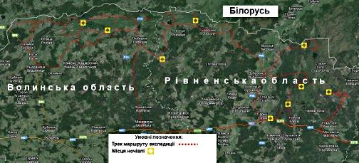 Карта маршрутов экспедиции