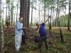 И. Комарницкий и М. Франчук готовятся к подъему на гнездо чеглока