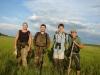 Участники экспедиции - Сергей Домашевский, Михаил Франчук, Иван Комарницкий, Александр Чован