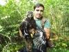 Александр Чован с птенцом большого подорлика