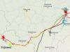 Миграционный путь орлана Макар (красный трек - http://rrrcn.ru/ru/migration/wte2018)