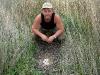 Гнездо степного луня в двух метрах от дороги (впоследствии разорено хищным животным)