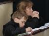Евгения Яблоновская-Грищенко с сыном -перспективным орнитологом (Каневский заповедник)