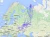 Зимняки из исследуемого региона российской тундры на зимовку летят в направлении Украины