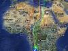 Миграционные пути и места зимовок 5 кобчиков (по информации с сайта http://www.kekvercse.mme.hu/en/gmap)