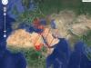 Мапа міграційних переміщень стерв'ятника Dobromir