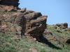 Другое нежилое гнездо курганника на скале