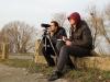 Наблюдатели - М. Гаврилюк, А. Илюха, за кадром с фотоаппаратом - Н.Борисенко