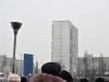Шестнадцатиэтажки Киева - строения, на которых чаще всего можно увидеть зимой отдыхающего сапсана