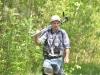 Валерий Домбровский (Беларусь) возвращается с болота, где наблюдал больших подорликов