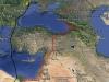 Міграція балабана в Африці: лівий трек - восени 2017, правий - навесні 2018