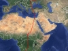 Осенние миграционные перемещения взрослого самца кобчика Adai