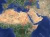 Осенние миграционные перемещения взрослой самки кобчика Dana